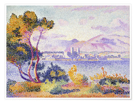 Premium-Poster  Antibes, Nachmittags (Antibes, Apres-midi). 1908. - Henri Edmond Cross