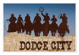 Premium-Poster  Cowboys in Dodge City - Walter Bibikow