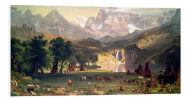 Forex  Indianerlager in den Rocky Mountains - Albert Bierstadt