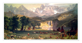 Poster  Indianerlager in den Rocky Mountains - Albert Bierstadt