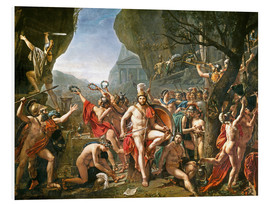 Hartschaumbild  Leonidas an den Thermopylen - Jacques-Louis David