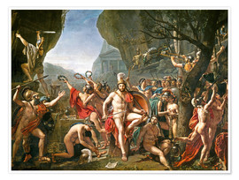 Premium-Poster  Leonidas an den Thermopylen - Jacques-Louis David