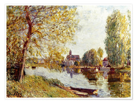Premium-Poster  Frühling in Moret-sur-Loing - Alfred Sisley
