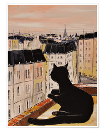 Premium-Poster  Katerchen in Paris - JIEL