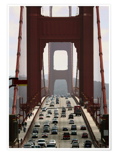 Premium-Poster Golden Gate Bridge