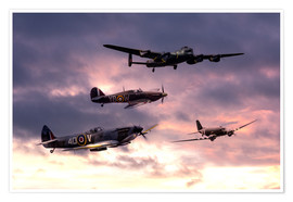 Poster  Battle of Britain Memorial - airpowerart