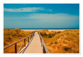 Premium-Poster way to the beach - Tarifa (Andalusia), Spain