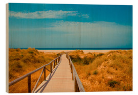Holzbild  way to the beach - Tarifa (Andalusia), Spain - gn fotografie