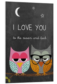 Forex  Eulen - I love you to the moon and back - GreenNest