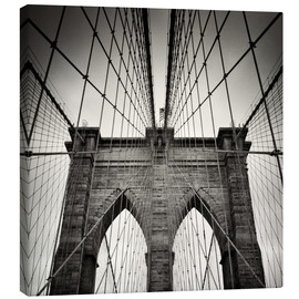 Leinwandbild  New York City - Brooklyn Bridge (Analogfotografie) - Alexander Voss