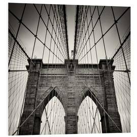 Hartschaumbild  New York City - Brooklyn Bridge (Analogfotografie) - Alexander Voss