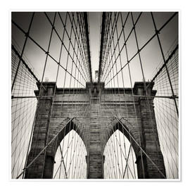 Premium-Poster New York City - Brooklyn Bridge (Analogfotografie)