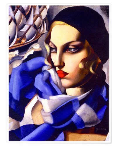 Poster The blue scarf