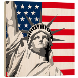 Holzbild  statue of liberty - coico