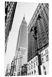 Hartschaumbild  New York City - Empire State Building (schwarz weiß) - Sascha Kilmer
