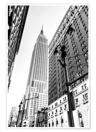 Premium-Poster  New York City - Empire State Building (schwarz weiß) - Sascha Kilmer