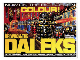 Premium-Poster Dr. Who and the Daleks