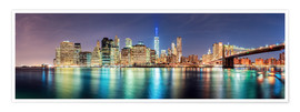 Premium-Poster New York Skyline, Panorama-Ansicht
