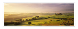 Premium-Poster Val d'Orcia bei Sonnenaufgang
