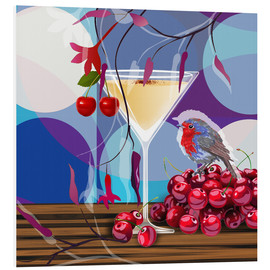 Hartschaumbild  Vintage Birdy Cocktail IV - Mandy Reinmuth