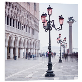 Hartschaumbild  Markusplatz in Venedig im Winter - Jan Christopher Becke