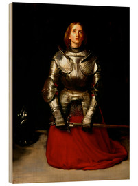 Holzbild  Jeanne d'Arc - Sir John Everett Millais