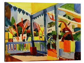 Alubild  Terrasse des Landhauses in St.Germain - August Macke