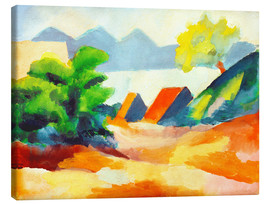Leinwandbild  Am Thuner See I - August Macke