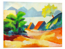 Hartschaumbild  Am Thuner See I - August Macke