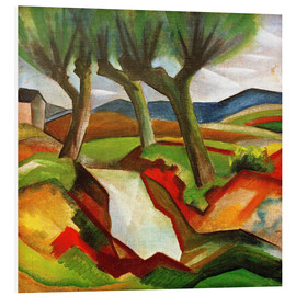 Hartschaumbild  Weiden am Bach - August Macke