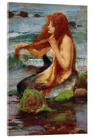 Acrylglasbild  Eine Nixe - John William Waterhouse