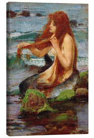 Leinwandbild  Eine Nixe - John William Waterhouse