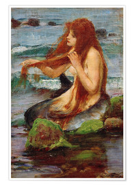 Premium-Poster  Eine Nixe - John William Waterhouse
