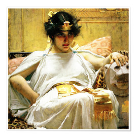 Premium-Poster  Kleopatra - John William Waterhouse