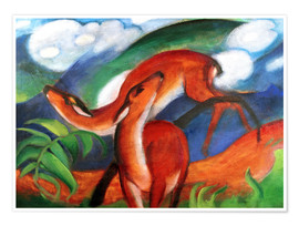 Premium-Poster  Rote Rehe II - Franz Marc