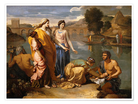 Poster  Auffindung des Moses - Nicolas Poussin