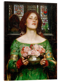 Acrylglasbild  Rosenblütensammeln - John William Waterhouse