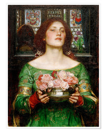 Premium-Poster  Rosenblütensammeln - John William Waterhouse
