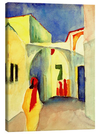 Leinwandbild  Gasse in Tunis - August Macke