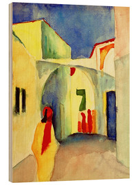 Holzbild  Gasse in Tunis - August Macke