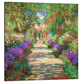 Alubild  Weg in Monets Garten in Giverny - Claude Monet