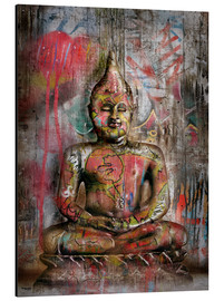 Alu-Dibond  Alter Buddha in Graffiti - teddynash