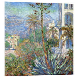 Hartschaumbild  Villen in Bordighera - Claude Monet
