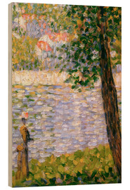 Holzbild  Morgenspaziergang - Georges Seurat