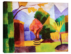Leinwandbild  Garten am Thuner See - August Macke