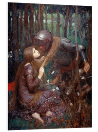 Hartschaumbild  La Belle Dame sans Merci - John William Waterhouse
