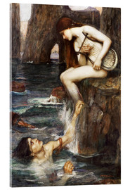 Acrylglasbild  Die Sirene - John William Waterhouse