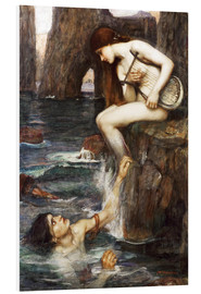 Hartschaumbild  Die Sirene - John William Waterhouse