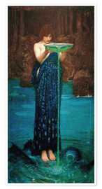 Premium-Poster  Circe Invidiosa - John William Waterhouse