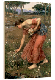 Holzbild  Narzisse - John William Waterhouse